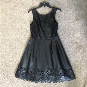 PU dress with laser cutouts